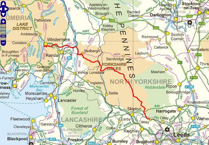 LDWA Dales Way map