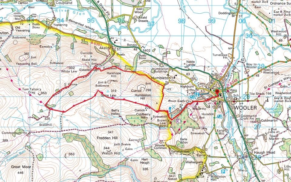 Gleadsclough Map