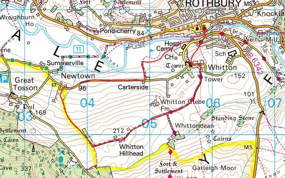 Whitton Hillhead Route