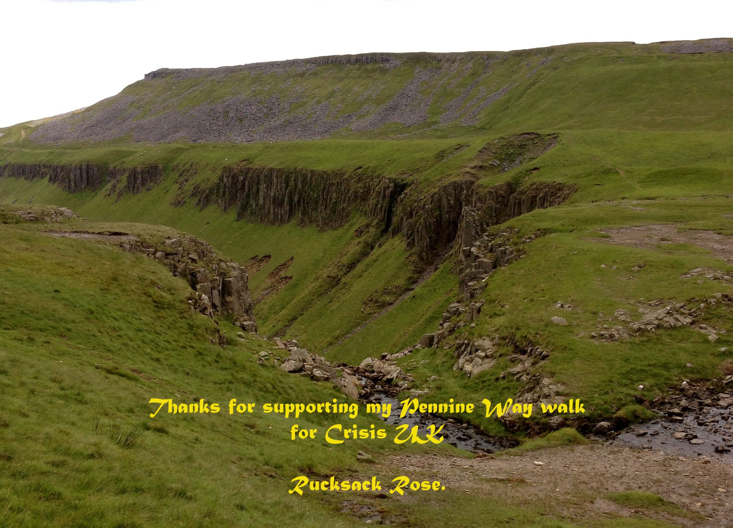 Thanks for supporting my Pennine Way for Crisis UK