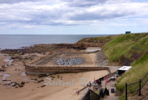 Remains of an open air swimming pool at Tynemouth