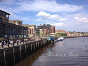 Newcastle Quayside from the Millennium Bridge