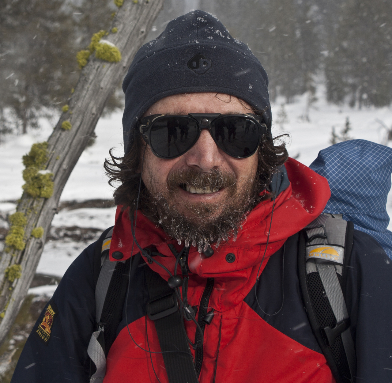 Chris Townsend on a ski tour in Yellowstone National Park