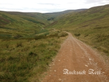 Salters Road looking west towards Low Blakehope