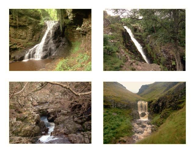 Waterfalls in Northumberland.