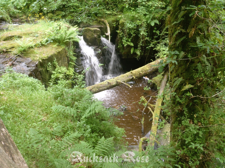 Small waterfall on Hareshaw Burn