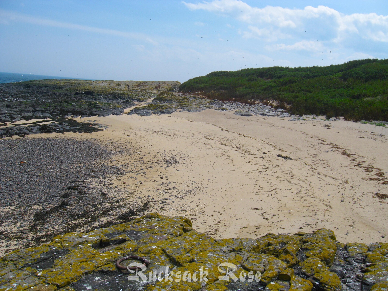 Beach by Inner Farne jetty