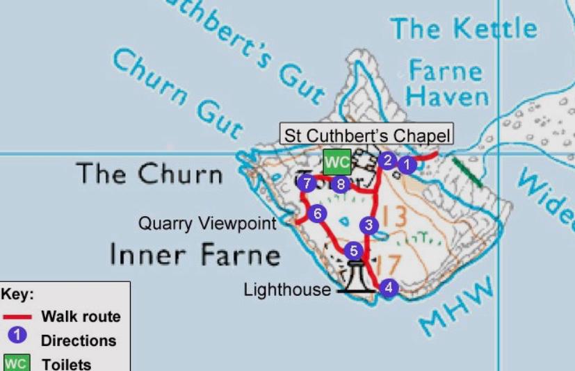 Inner Farne Circular walk route