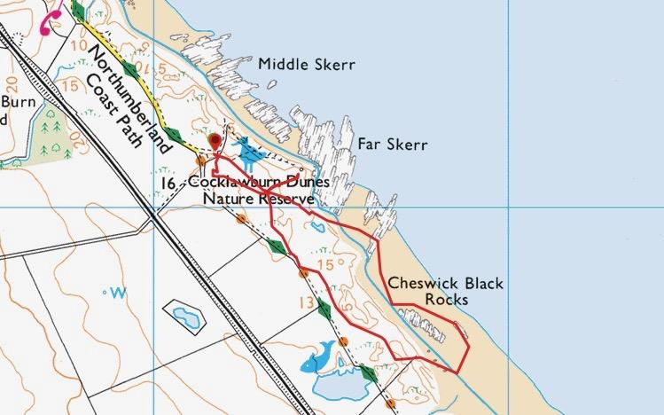 Cocklawburn map