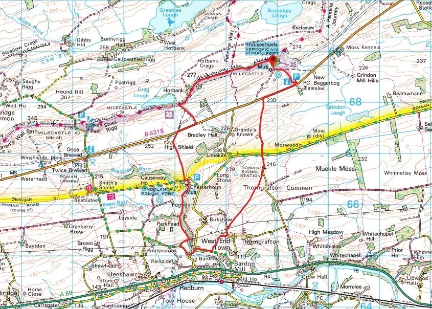 Housesteads to Vindolanda