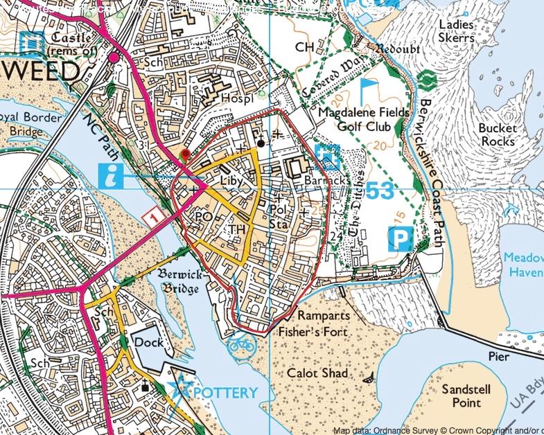 Berwick Map
